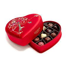 chocolate heart box s day fabric heart chocolate gift box 14 pc godiva