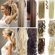 ponytail hair extensions us 100 real new clip in hair extension pony wrap around