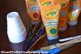 styrofoam cup fireworks new year u0027s kid craft glued to my crafts