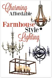 Farmhouse Ceiling Light Fixtures Make A Charming Home With Affordable Farmhouse Style Lighting An