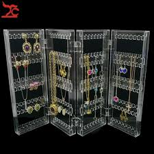 necklace display case images Online shop foldable 4 panel clear acrylic makeup jewelry jpg