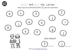 preschool letter j activities and worksheets little dots