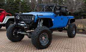 blue jeep 2 door jeep bringing six hopped up mopar built vehicles to annual moab