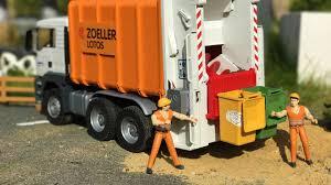 bruder garbage truck best of bruder garbage trucks youtube