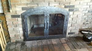 bar iron collection of fireplace glass doors