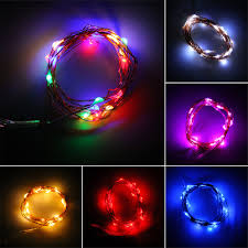 Led Wire String Lights by 2m 20 Leds Button Battery Operated Led Copper Wire String Fairy