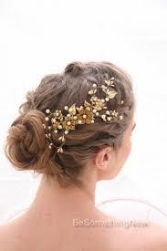 decorative hair combs bridal decorative comb rustic gold and bronze wedding hair comb