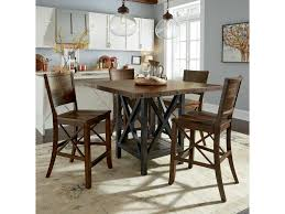 counter dining chairs flexsteel wynwood collection carpenter 5 piece counter height