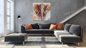 wildlife home decor wildlife colorful elephant picture canvas print plus 50 oil