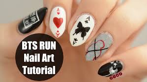 bts run nail art tutorial youtube
