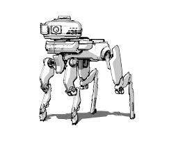 sam brown robot sketches
