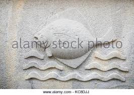 ornaments mouldings gargoyle low reliefs in a sandstone