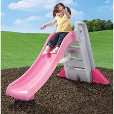 step2 big folding slide pink playground set outdoor playset garden