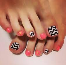 toe nail designs chevron nail art design