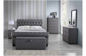new grey sleigh bed with storage fresh mattress and home ideas