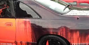 car colour with heat sensitive paint changes depending on weather