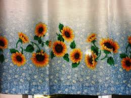 Sunflower Yellow Curtains Sunflower Kitchen Curtains Fabric Gorgeous Sunflower Kitchen