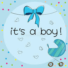 it s a boy decorations baby card its a boy theme stock vector illustration of