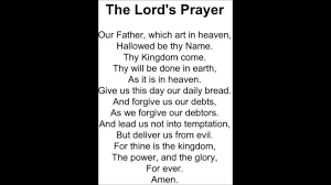 the lords prayer youtube
