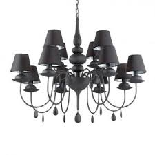 Chandelier With Black Shades Black Chandelier With Black Shades Rs Robertson