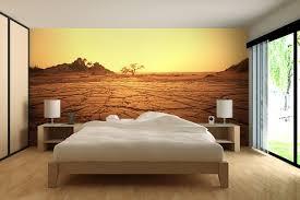 papier peint trompe l oeil chambre trompe l oeil mural terre désertique pour un papier peint chambre
