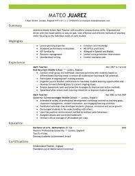 15 Best Art Teacher Resume by Teacher Resume Summary Resume Examples Education Impactful