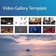 free html bootstrap video gallery template