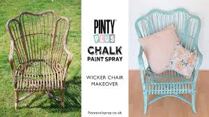 diy chalk spray paint makeover of a 5 wicker chair using pinty