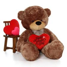valentines day stuffed animals 72in teddy cuddles with happy s day