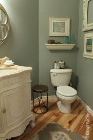 Bathroom Makeover Ideas Colors Powder Room Slate Green Glidden Paint Makeover Great Idea To