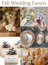 fall wedding favor ideas falling in with these great fall wedding ideas