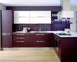 Stainless Steel Kitchens Cabinets by Cabinets U0026 Storages Contemporary L Shape Cherry Kitchen Cabinet