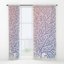 coralreef window curtains society6