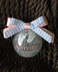 floating pregnancy announcement ornament by aweinspiredcrafts on