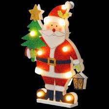 national tree company pre lit 17 in wooden santa mzc 1326 the