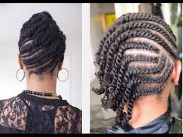 cornrow and twist hairstyle pics beautiful easy flat twists hairstyle on natural hair youtube