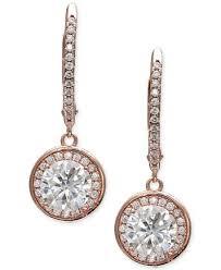 cubic zirconia drop earrings giani bernini cubic zirconia halo drop earrings in 18k gold