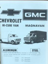 chevrolet gmc union city custom step van body parts catalog