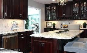 kitchen backsplash cherry cabinets kitchen backsplash cherry cabinets black counter modern style
