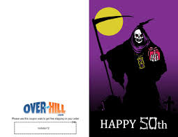 free party invitations 50th birthday grim reaper