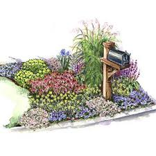 Flower Bed Plan - mailbox garden mailbox garden garden planning and gardens