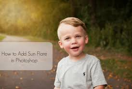 photoshop tutorial how to quickly add a sun flare youtube