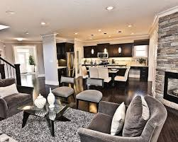 grey living rooms with dark floors and espresso furniture design
