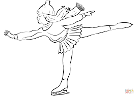 figure skater coloring page free printable coloring pages