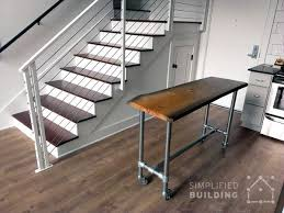 Rolling Kitchen Island With Live Edge Top Industrial Decor DIY - Rolling kitchen island table