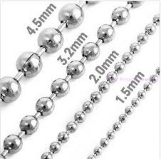 metal ball chain necklace images Buy 2mm 2 4mm 3 2mm 4mm 6mm wide polishing silver jpg