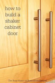 Shaker Cabinet Door Dimensions Remodelaholic How To Make A Shaker Cabinet Door