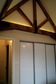 led ceiling strip lights warm white led tape on top of feature oak beams barn house