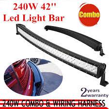 curved marine led light bar wholesale 240w curved led work light bar offroad working light suv
