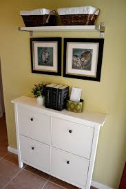 love this ikea shoe cabinet for a narrow entryway decorable